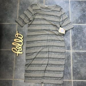 NWT Lularoe Julia Striped Dress 3X